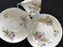 Shelley Wild flowers blue trim tea trio